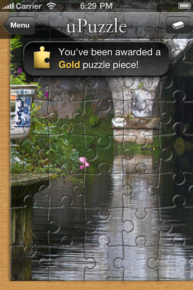 Screenshot uPuzzle Jigsaw
